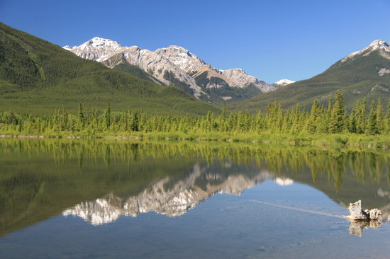 Parc national Banff, Canada : Vermillion Lake and the Canadian Rockies