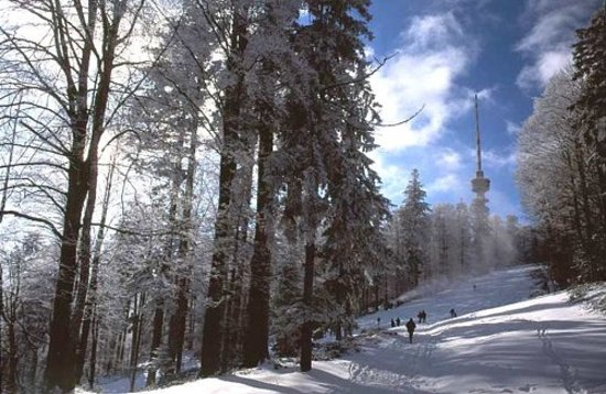 Zagreb, Kroatien: Winter trails