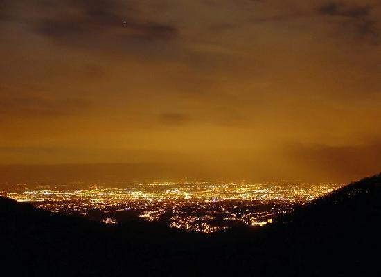 Medvednica mountain (Sljeme): Zagreb from Sljeme in the evening