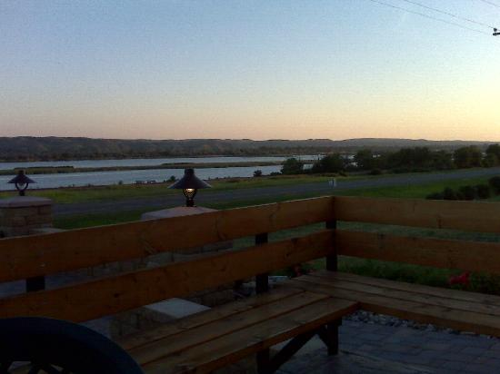 Cattleman's Club Steakhouse: View from the porch after dinner