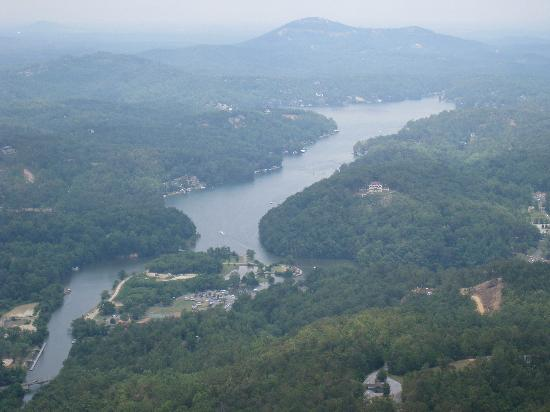 Fox Run Resort: Lake Lure from top of Chimney Rock