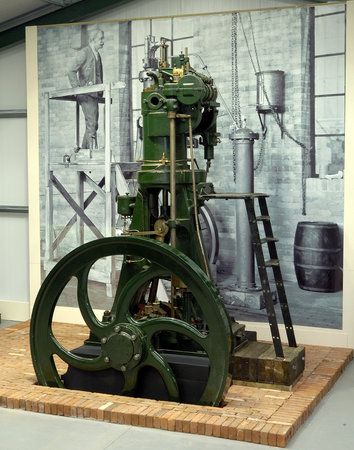 Cheshire, UK: 1st diesel engine built in UK, 3rd ever built in world