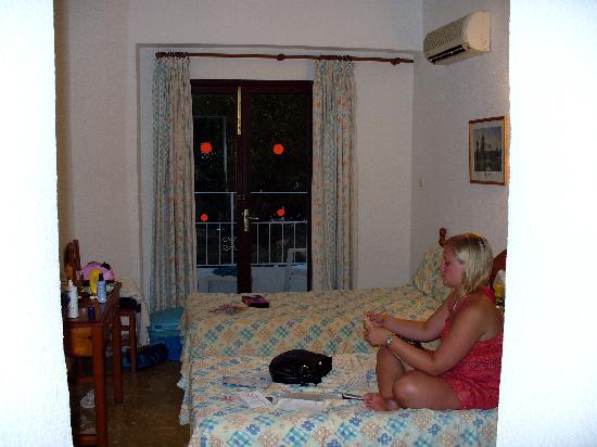 Hotel Antares: room view from door