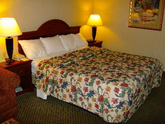 Holiday Inn Express San Diego N - Rancho Bernardo: A nice bed and nice bedding.