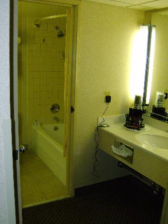 Holiday Inn Express San Diego N - Rancho Bernardo: You have a dressing area and a bathroom within.