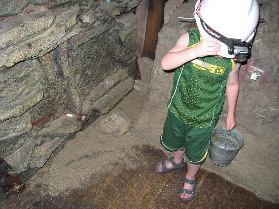 Ranch Okoboji: Mining-it's dark until my camera flashed - very cool!