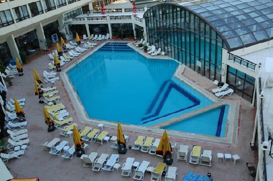 Kaya Izmir Thermal & Convention: Swimming pool below window
