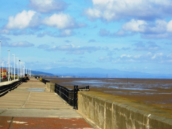 Hoylake, UK : View of Dee Estuary looking towards Wales from Bennets Lane
