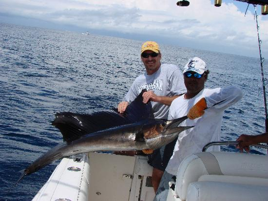 Crocodile Bay Resort: Jonathon with sailfish