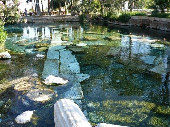 Club Resort Atlantis: Piscine de cléopatre à Pamukalé