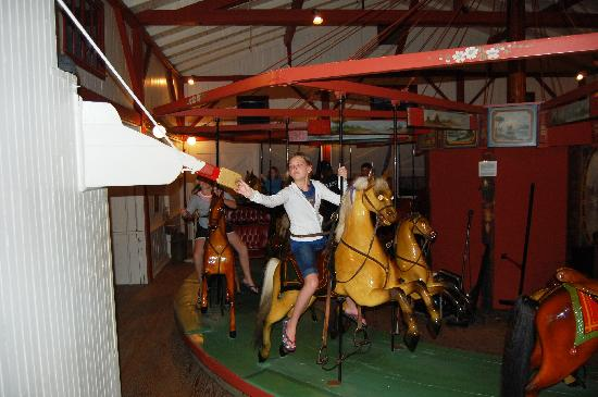 Flying Horses Carousel: grab a ring
