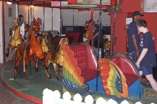 Flying Horses Carousel: lovely paint work