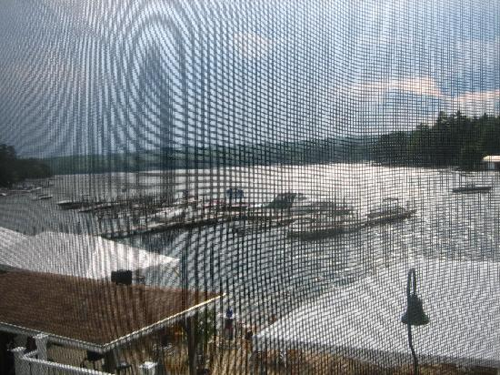 The Naswa Resort: View from the screened in porch