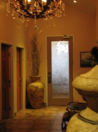 StressBusters Lifestyle Day Spa: Two treatment rooms & carved door