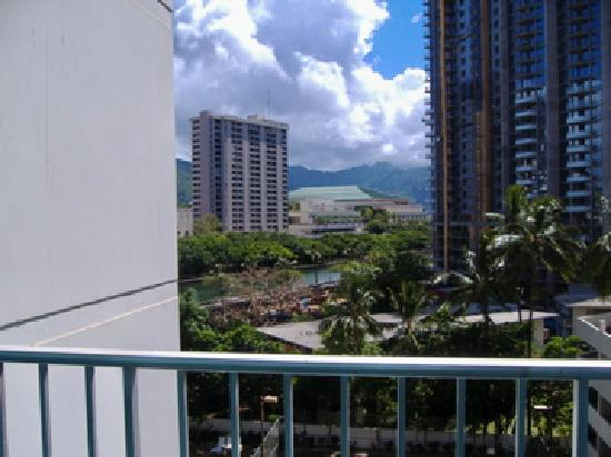 Big Surf: view of convention center/mountainside