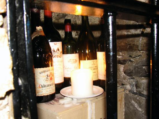 ely wine bar : Downstairs in the wine bar area.