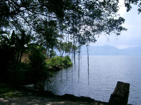 Samosir, Indonesia: View from the swimming area