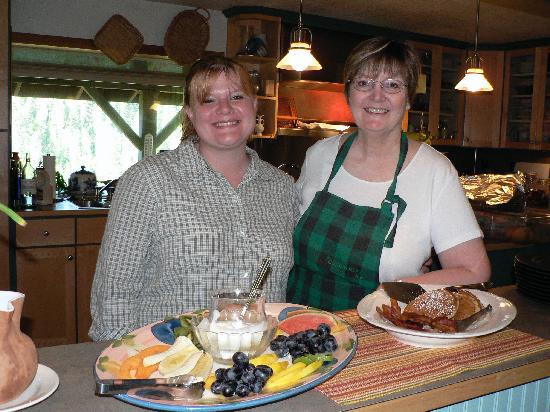 Reflections Inn: Ruth, right, helps serve up breakfast made fresh daily