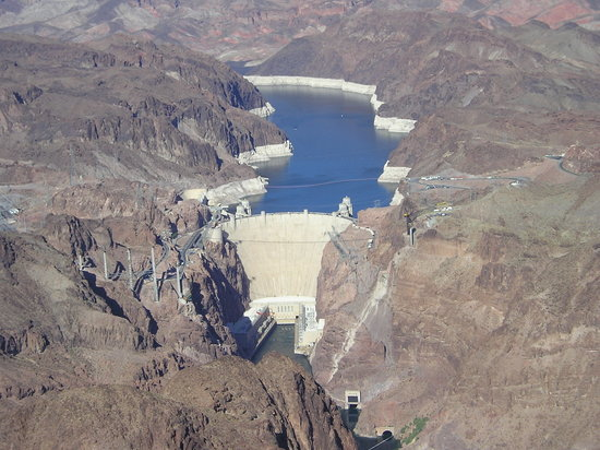 Boulder City, Νεβάδα: hoover dam from a helicopter trip