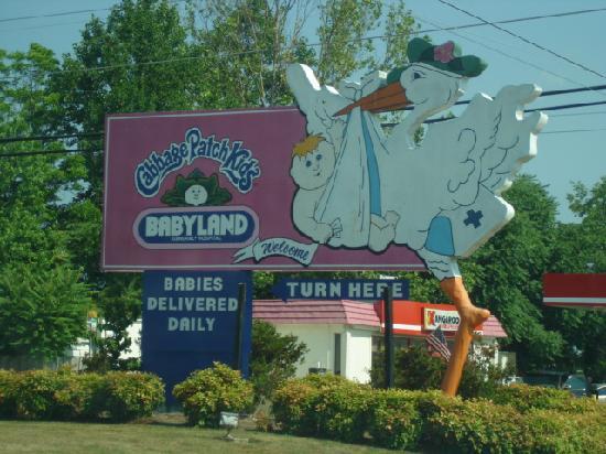 BabyLand General Hospital: Entrance sign
