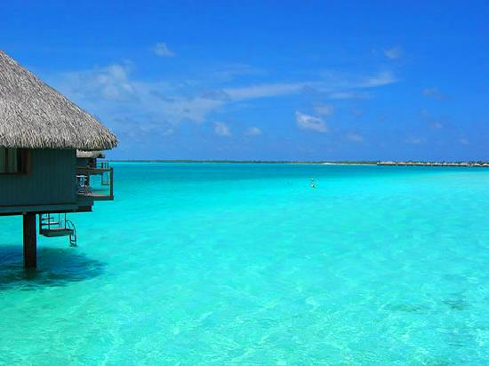 Bora Bora, Französisch-Polynesien: endless shallows at Le Merieidn