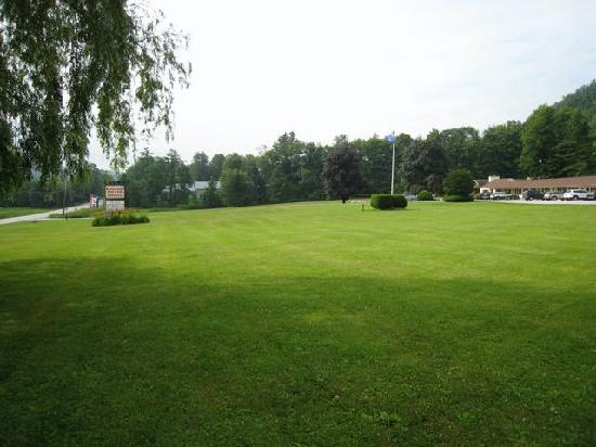 Brandon Motor Lodge: View across the front lawn