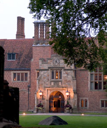 Meadow Brook Hall: The entrance to the hall.