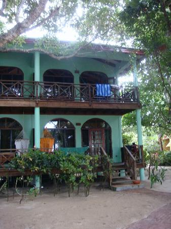 Hamanasi Adventure and Dive Resort : Honeymoon suite  from outside (top porch)