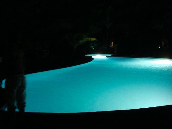 Hamanasi Adventure and Dive Resort : Pool at night