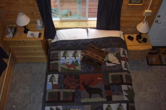 Caribou Cabins: view from the loft