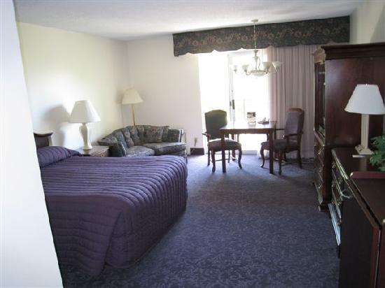 River Terrace Inn: Best Western River Terrace Purplie-icious Room