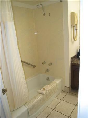 River Terrace Inn: Shower set-up shot
