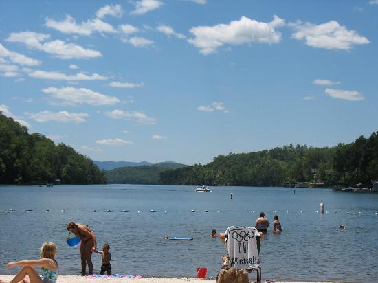 Lake Lure, NC: View from beach
