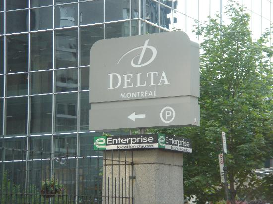 the sign picture of delta hotels by marriott montreal. Black Bedroom Furniture Sets. Home Design Ideas