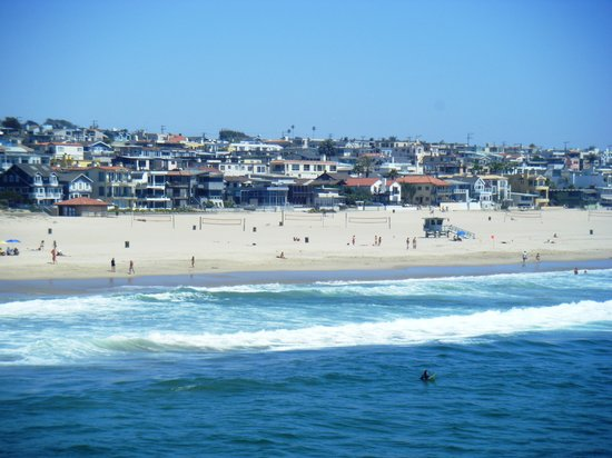 Manhattan Beach, Californien: A view of the whole beach