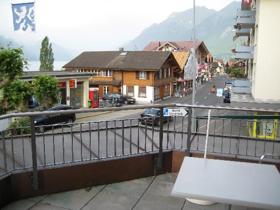 Steinbock Hotel Restaurant : Town street looking west from balcony