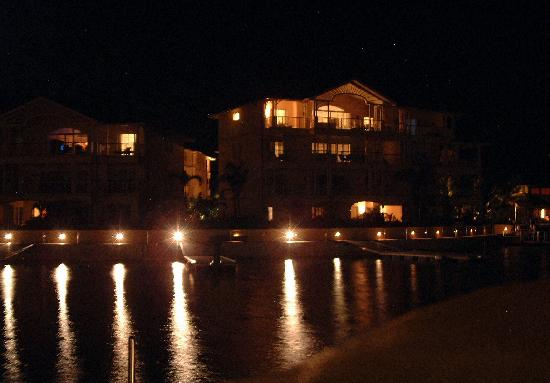 The Landings St. Lucia: View from interior harbor