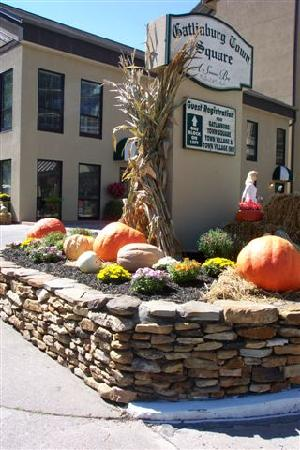Gatlinburg Town Square Resort By Exploria Resorts: Everyone in this area has fall decorations that time of year!