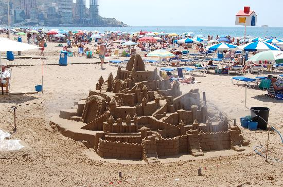 Benidorm, Spain: Sandy castle on the Levante beach