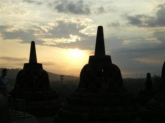 Sunset, Borobudur