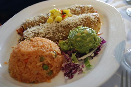 Las Brisas: Myson had the chicken enchiladas