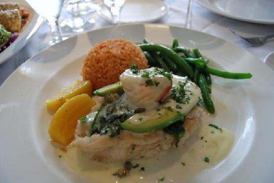Las Brisas: Stuffed Sole with Fresh Crab was Yummy!
