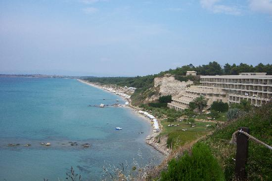 Sani Beach: hotel and beach