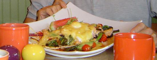 Stolen Menu Cafe LLC : One of the Sunday Brunch lobster selections