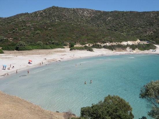 Santa Margherita di Pula, Italien: La spiaggia di Piscinnì