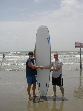 C-Sick Surfin': Brian our instructor and my husband