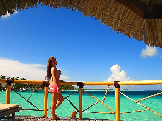 Bora Bora Pearl Beach Resort & Spa: me on my beautiful private deck