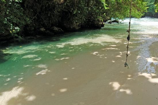 Frenchman's Cove: The rope swing...