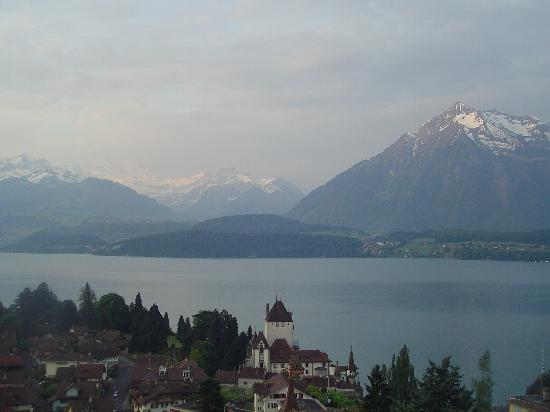 Parkhotel Oberhofen: Early morning over Oberhofen as seen from the balcony of the