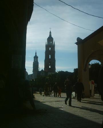 Valle de Santiago, Mexique : Main square Parque municipal